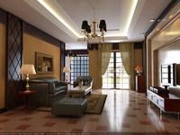 Condo Living Room 235 3D Model