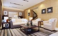 Condo Living Room 236 3D Model