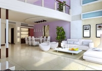 Condo Living Room 242 3D Model
