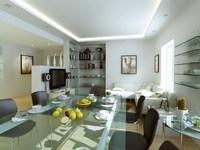 Condo Living Room 246 3D Model