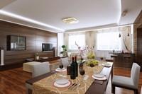 Condo Living Room 248 3D Model