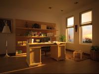 Condo Living Room 254 3D Model