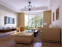 Condo Living Room 260 3D Model