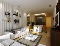 Condo Living Room 264 3D Model