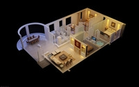 Condo Living Room 266 3D Model