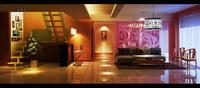Condo Living Room 268 3D Model