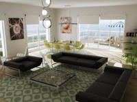 Condo Living Room 281 3D Model