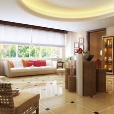 Condo Living Room 284 3D Model