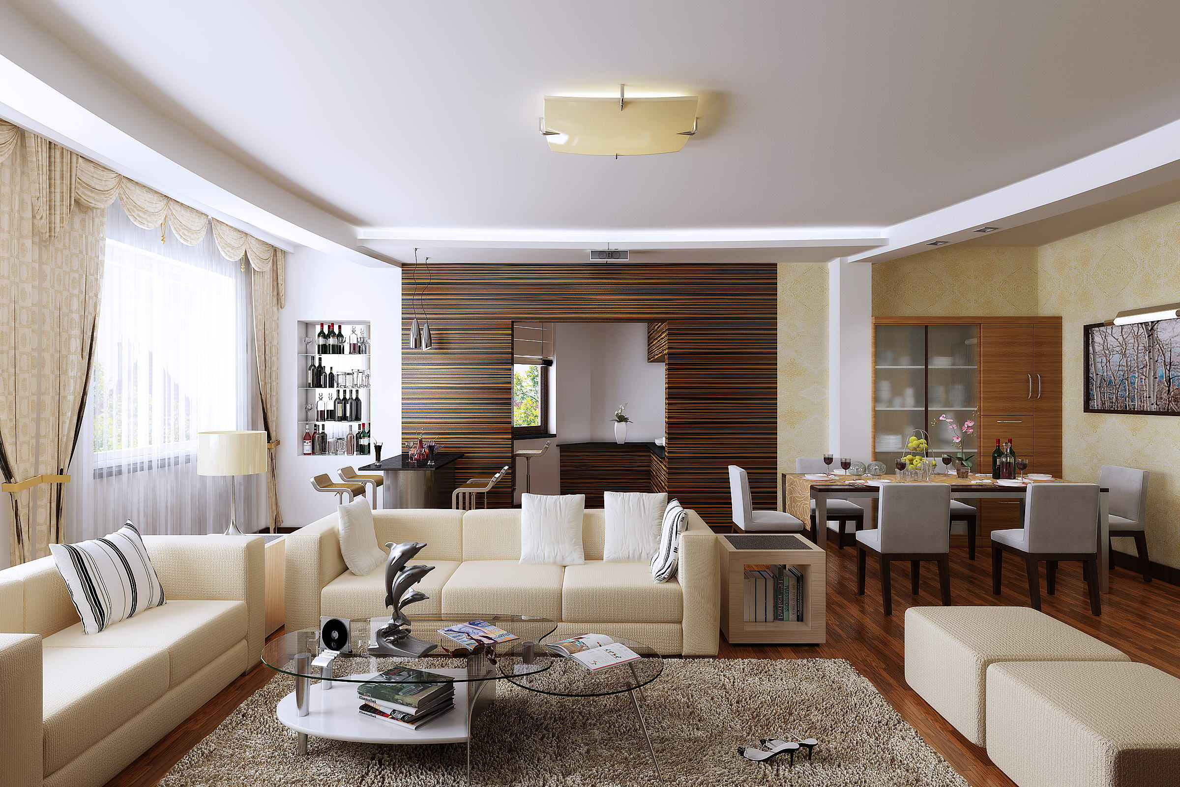 Condo living room 283 3d model for Living room 3d model