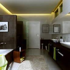 Condo Living Room 286 3D Model