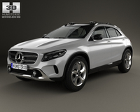 Mercedes-Benz GLA-class concept 2013 3D Model