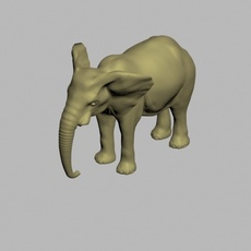 Elephant 3d textured model 3ds max and maya scene files 3D Model