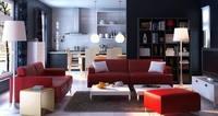 Condo Living Room 295 3D Model