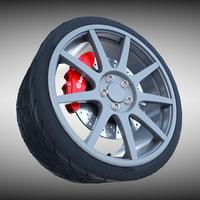 Carbon Fiber Wheel 3D Model