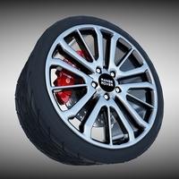 Range Rover Sport Wheel 3D Model