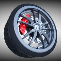 F-Sport Wheel 3D Model