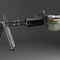 M60 Machine Gun 3D Model