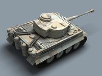 WWII Tiger tank 3D Model