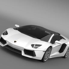 Lamborghini Aventador LP 700 4 Roadster 3D Model