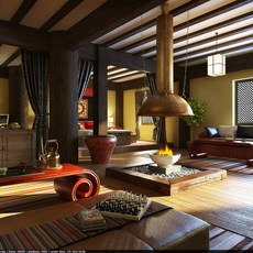 Condo Living Room 310 3D Model