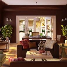 Condo Living Room 312 3D Model