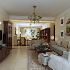 Condo Living Room 313 3D Model