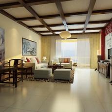 Condo Living Room 314 3D Model