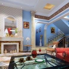 Condo Living Room 316 3D Model