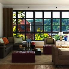 Condo Living Room 317 3D Model