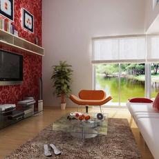 Condo Living Room 319 3D Model