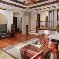 Condo Living Room 321 3D Model