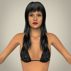 Realistic Young Sexy Female 3D Model