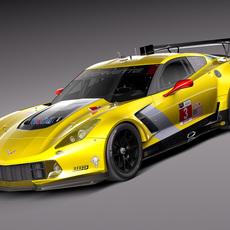 Chevrolet Corvette C7R 2015 3D Model