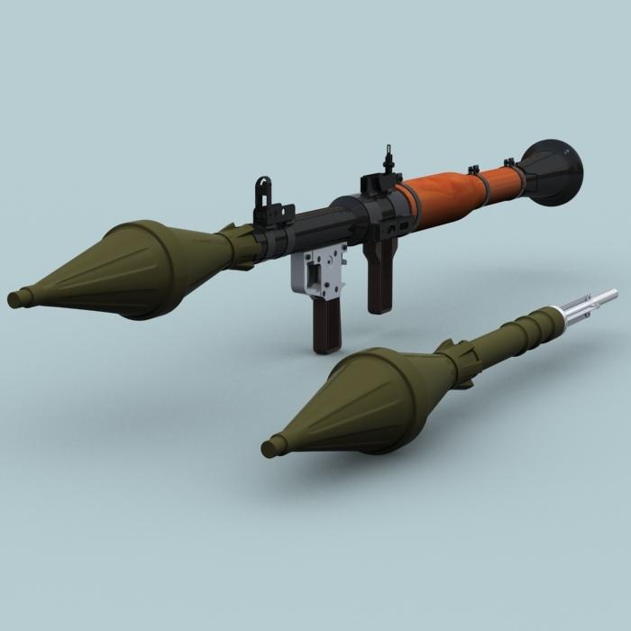 RPG 7 grenade rocket launcher 3D Model