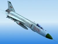 Shenyang J-8 China Fighter 3D Model