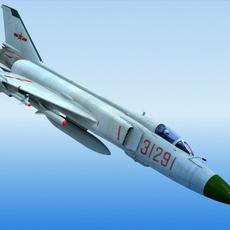 Shenyang J-8 China Fighter 3D Model