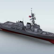 Arleigh Burke destroyer 3D Model