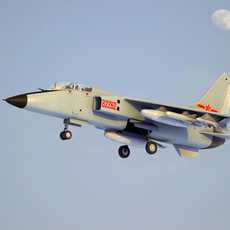 Chinese JH-7 Leopard Fighter-Bomber 3D Model