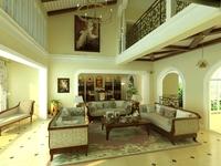 Condo Living Room 322 3D Model