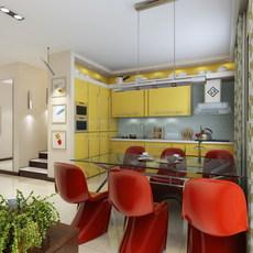 Condo Living Room 324 3D Model