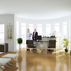 Condo Living Room 326 3D Model