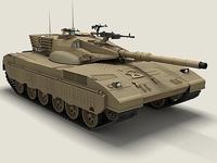 Tank Merkava 2 3D Model