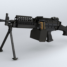 MK46 machine gun 3D Model