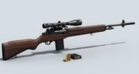 M21 Sniper Rifle 3D Model