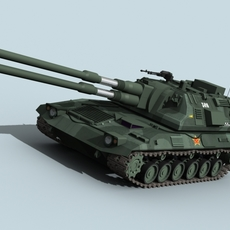 Self Propelled Howitzer 3D Model