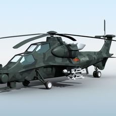 WZ-10 Chinese Attack Helicopter 3D Model