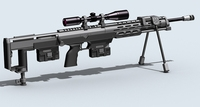 Amp dsr-1 Sniper Rifle 3D Model