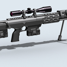 Amp dsr-1 Sniper Rifle 3D Model