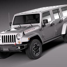 Jeep Wrangler Rubicon 2014 3D Model