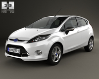 Ford Fiesta Zetec 5-door hatchback 2012 3D Model